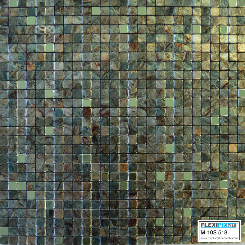 stick on tiles for kitchen walls flexipixtile aluminum peel amp stick mosaic tile kitchen 9435