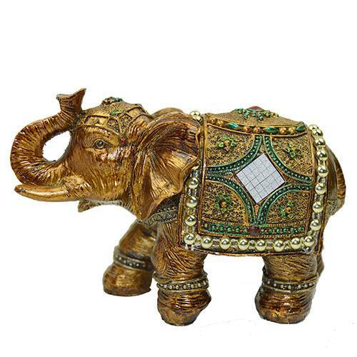 5 Feng Shui Elegant Elephant Trunk Statue Lucky Wealth