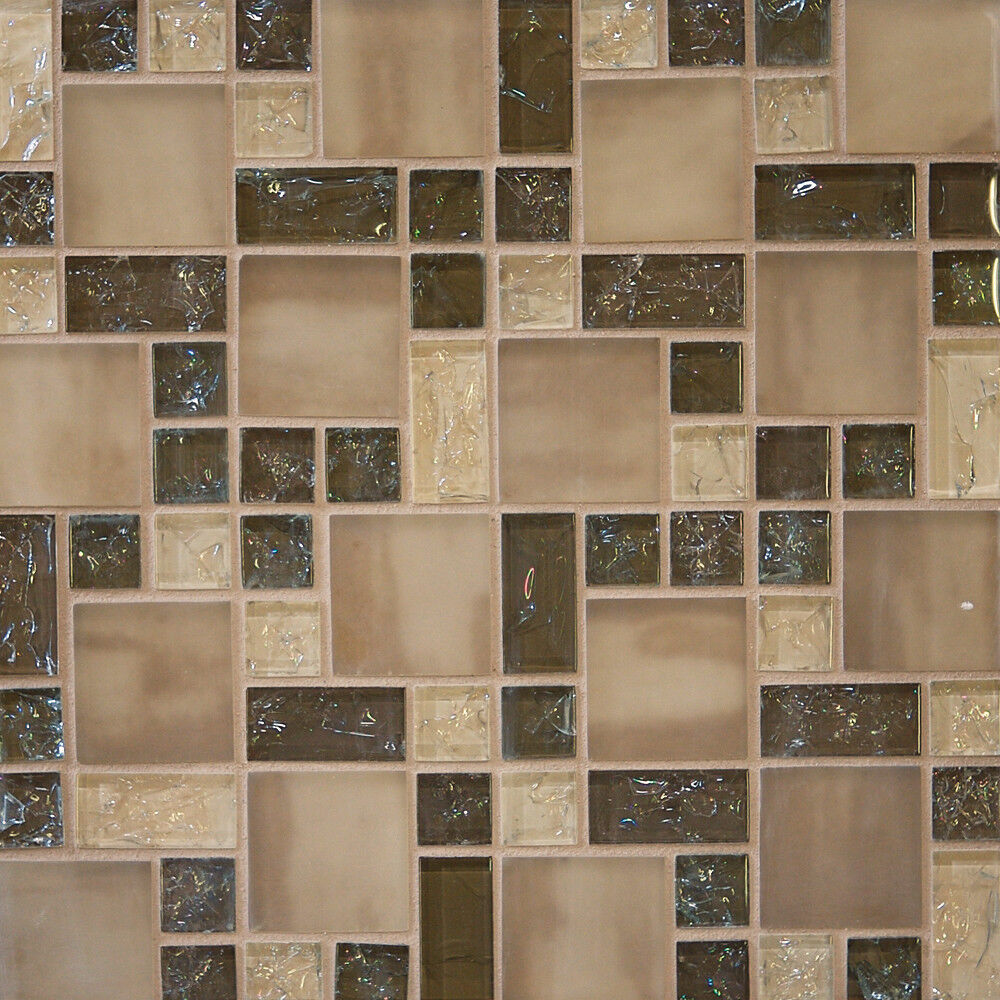 mosaic tile backsplash bathroom sample brown crackle glass mosaic tile kitchen backsplash 19661