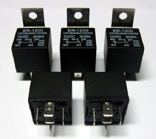 5 30 40 amp spdt relays 12 volt installs bosch style ebay. Black Bedroom Furniture Sets. Home Design Ideas