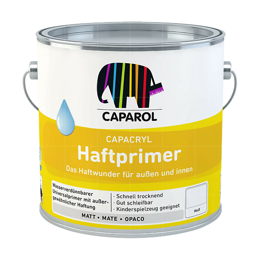 20 20 l caparol capacryl haftprimer weiss 2 5l grundierung primer holz zink alu ebay. Black Bedroom Furniture Sets. Home Design Ideas