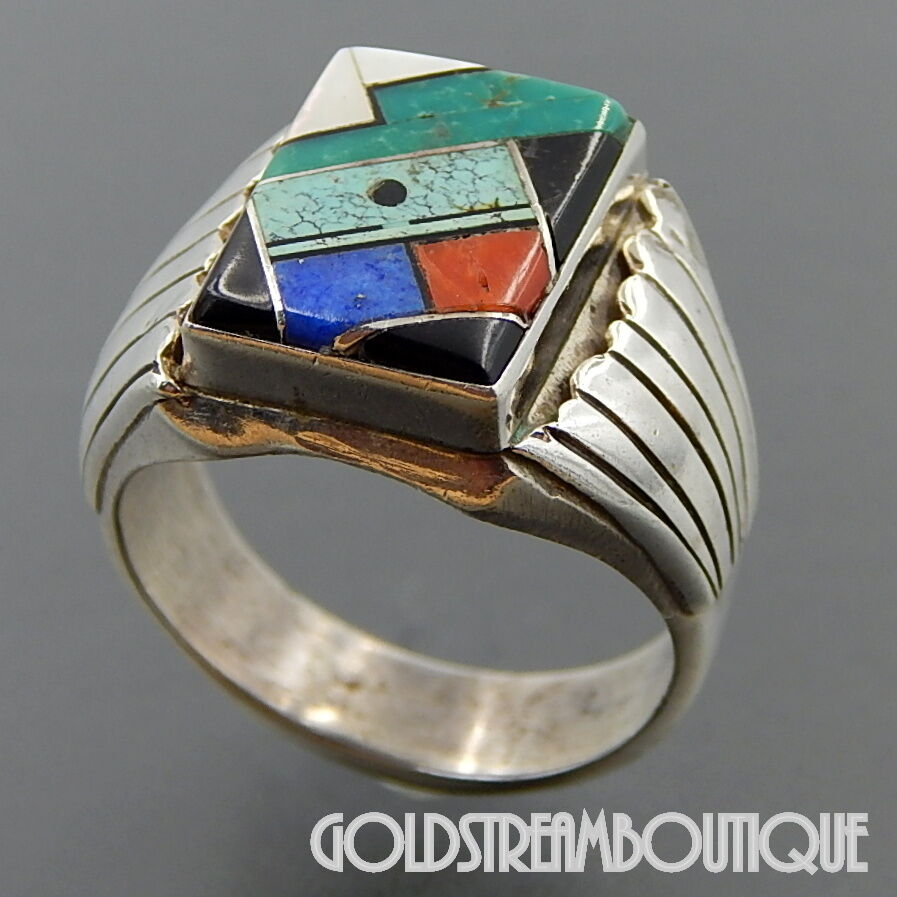 Gemstone Inlay Rings