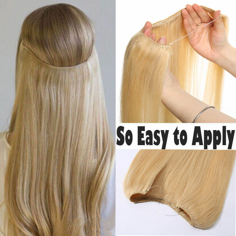 how to style halo hair extensions 16 quot 30 quot invisible wire one remy human hair 7106