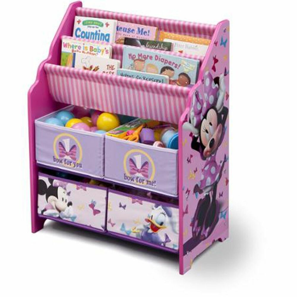 Book and toy organizer disney minnie mouse box cubby multi for Toy and book storage