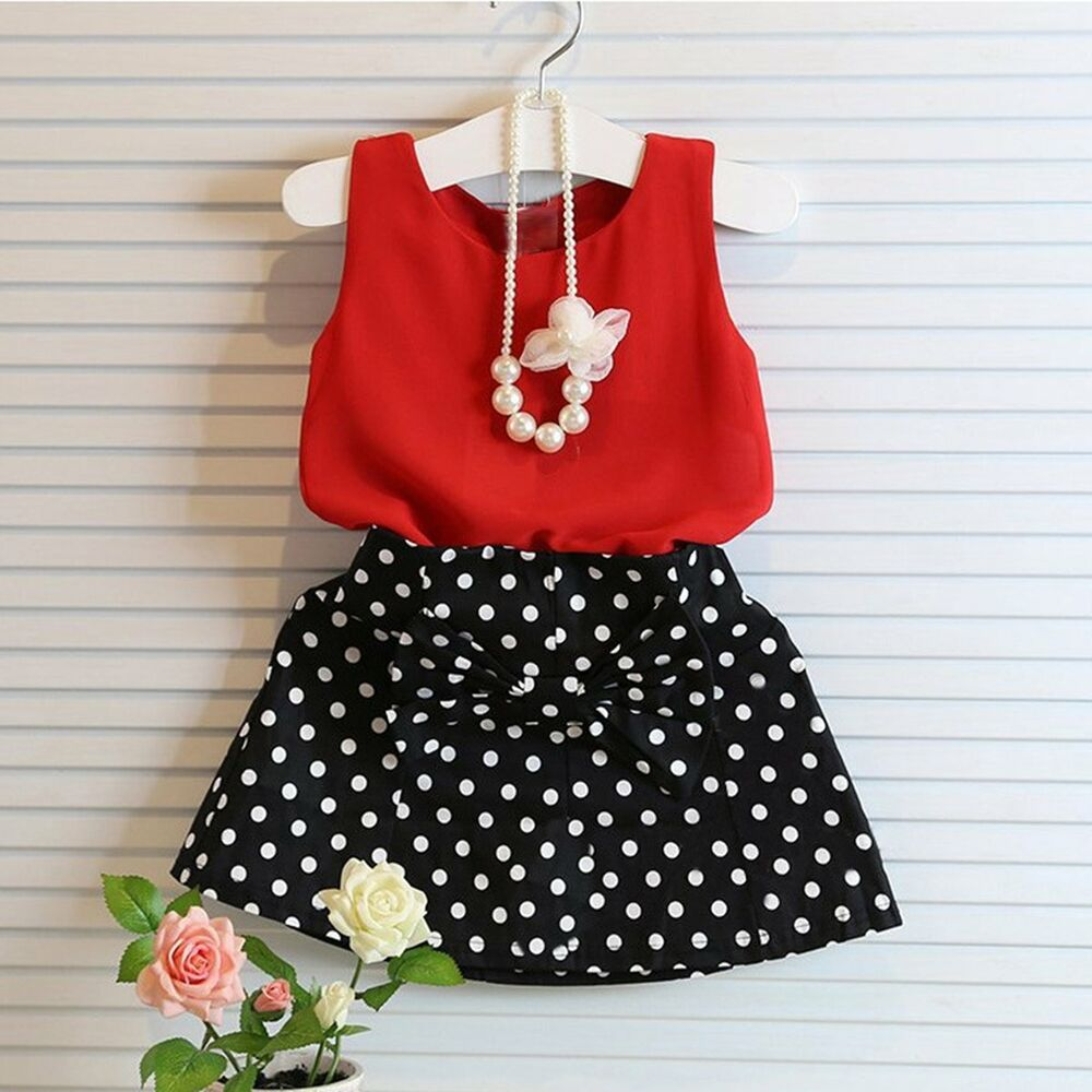 Girls Fashion Clothes: Toddler Kids Baby Girls Summer Outfits Clothes T-shirt