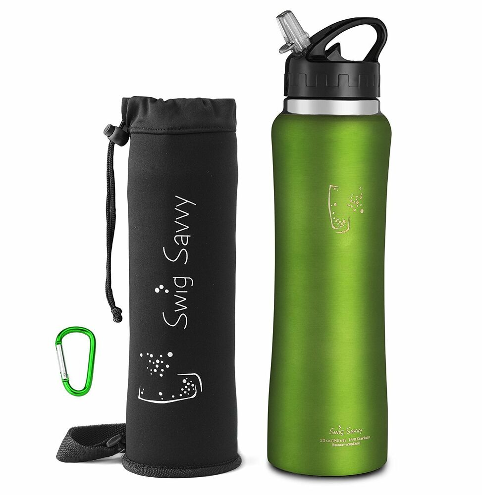 Swig Savvy Stainless Steel Insulated Water Bottle With