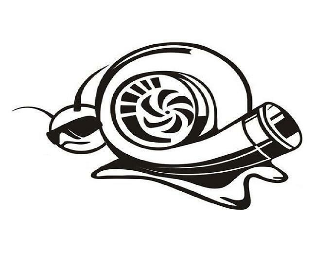 Turbo Snail Vinyl Decal Sticker Truck Car Window Door