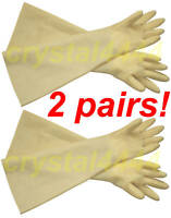 "30Mil 24"" Heavy Duty Industrial Shoulder Length Latex Rubber Glove Long Cuff_2"