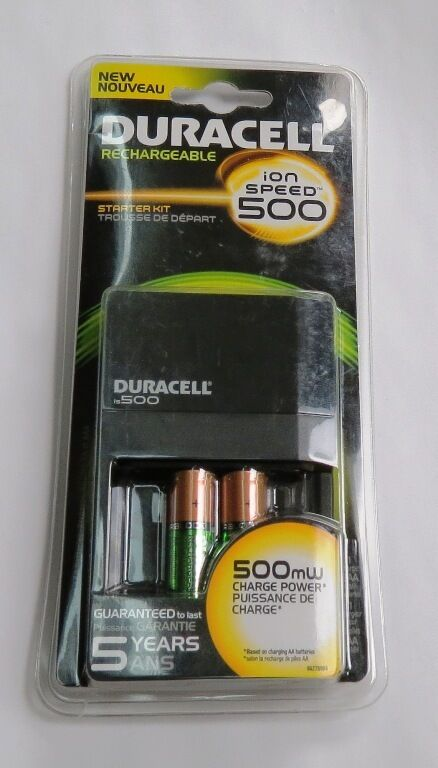 duracell ion speed 500 battery charger 2x aa nimh. Black Bedroom Furniture Sets. Home Design Ideas
