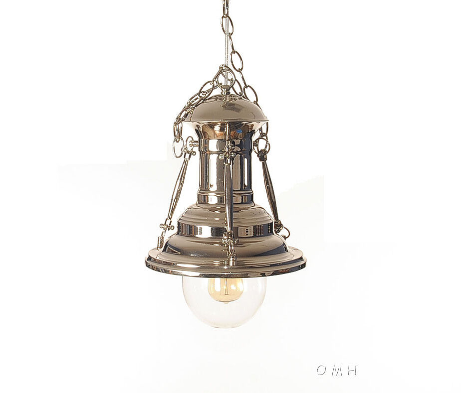 Hanging Lamp Light: Nautical Chrome Metal Pendant Hanging Lamp Turnbuckle