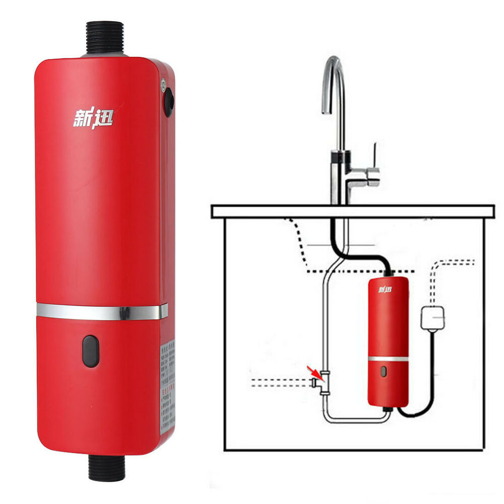 240v mini travel bathroom hot water system tankless kitchen faucet water heater ebay for Tankless water heater for bathroom