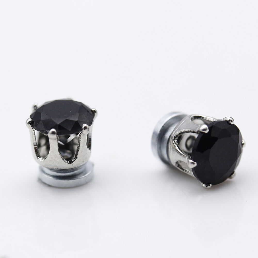 Lastest Mouse Outline Magnet Stud Earrings  Magnetic Mens Womens Mickey Minnie  NEW