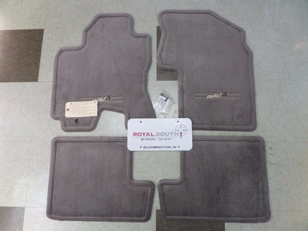 toyota rav4 2002 2003 taupe carpet floor mats set genuine. Black Bedroom Furniture Sets. Home Design Ideas