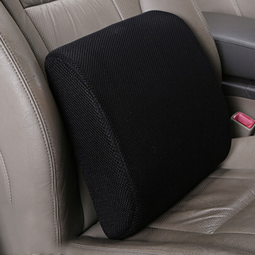 memory foam seat cushion lumbar back support pillow for office home chair car us ebay. Black Bedroom Furniture Sets. Home Design Ideas