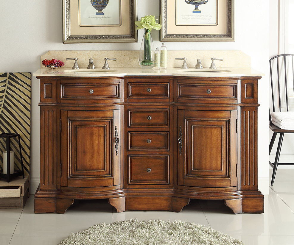 60 Master Of The Old World Kleinburg Double Sink Bathroom Vanity Cabinet 33130m Ebay