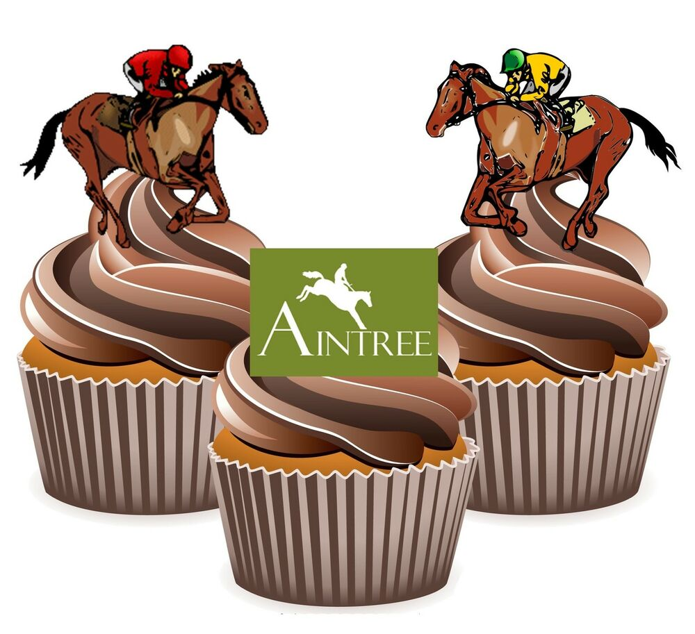 Horse Racing Aintree Racecourse - 12 Edible Cup Cake ...