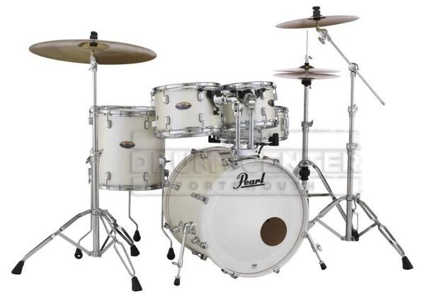 Pearl Decade Maple 5pc Fusion Drum Set White Satin Pearl