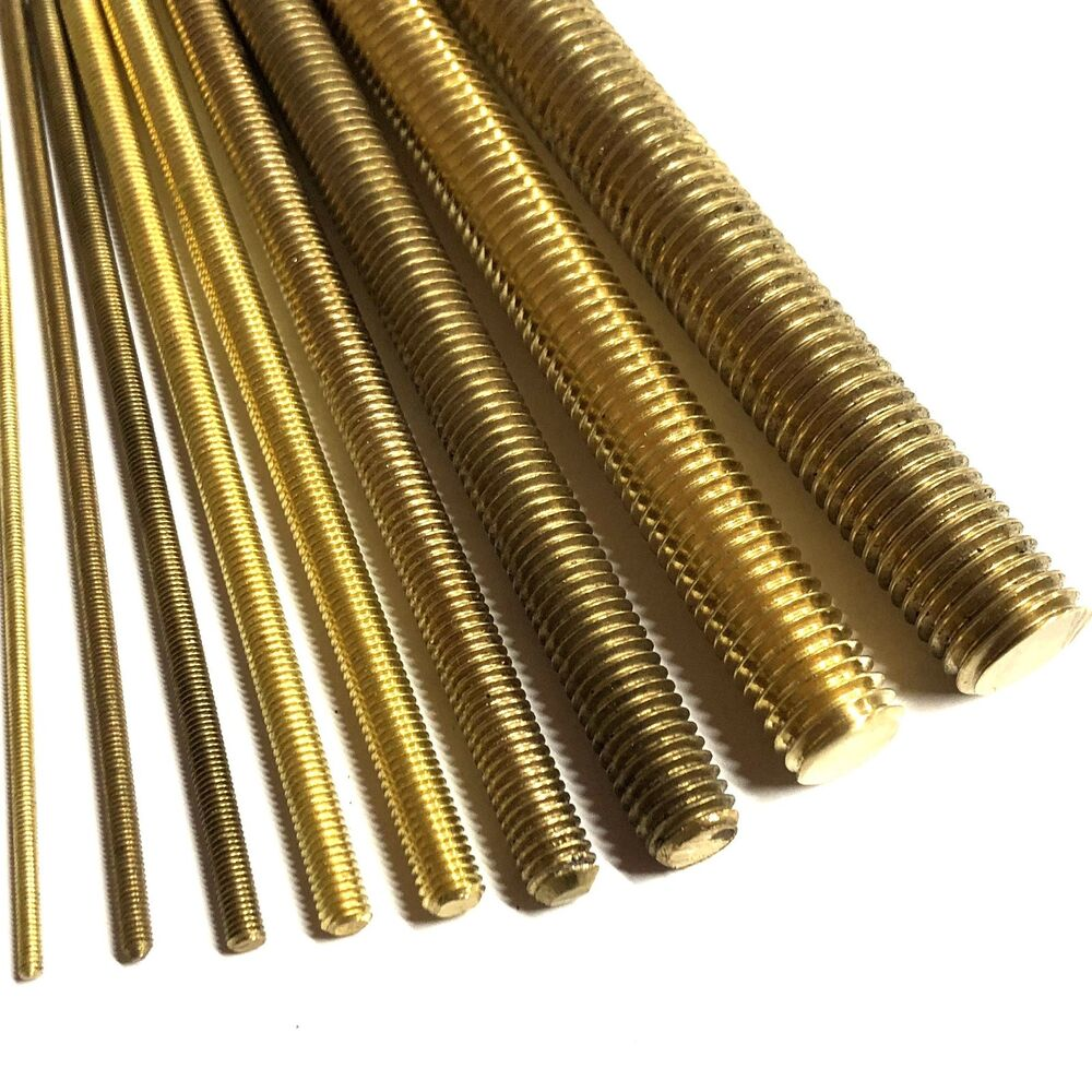 M long brass threaded bar mm allthread rod studding ebay
