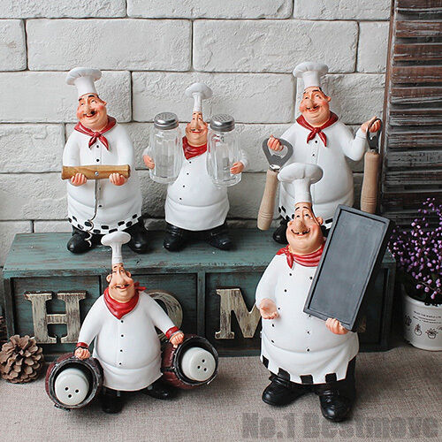 Hot kitchen restaurant resin chef cook figurine statue