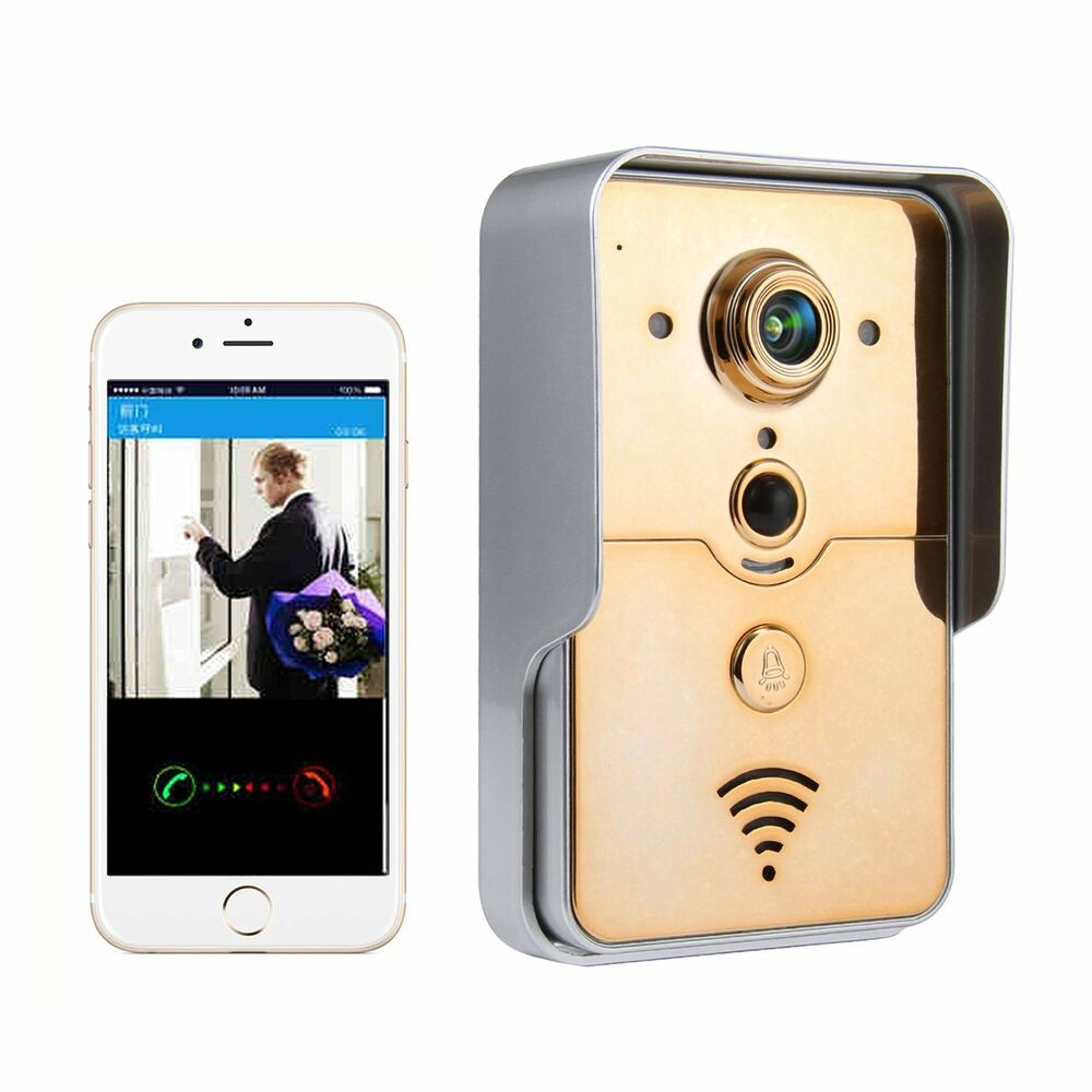 wifi wireless video door phone intercom system doorbell. Black Bedroom Furniture Sets. Home Design Ideas