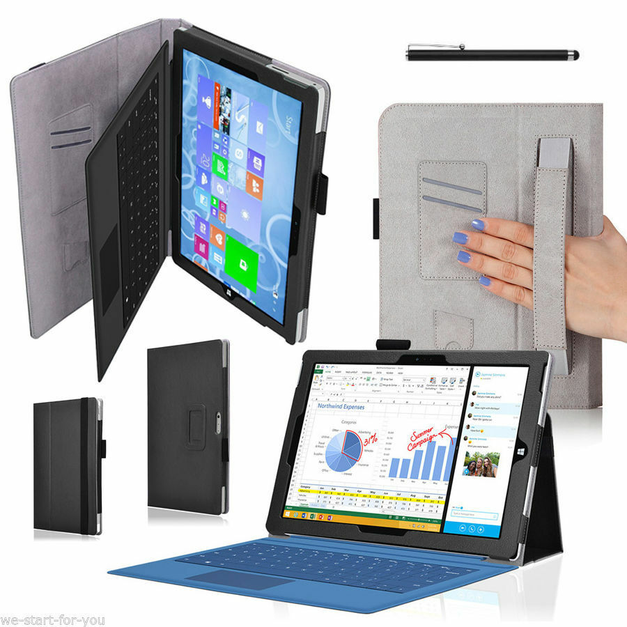 top schutz h lle f r microsoft surface pro 4 12 3 tasche cover case etui 2 sw ebay. Black Bedroom Furniture Sets. Home Design Ideas