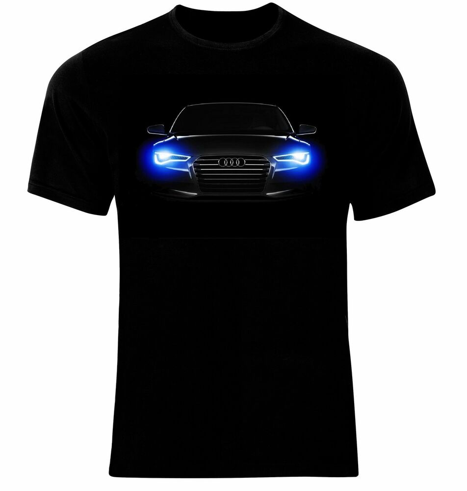 audi logo emblem auto xenon t shirt neu all sizes ebay. Black Bedroom Furniture Sets. Home Design Ideas