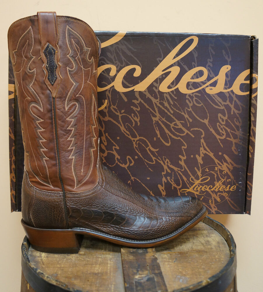 mens lucchese cowboy boots n1119 j4 1883 chocolate