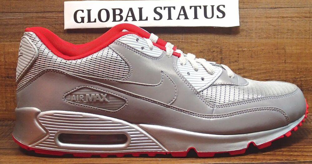 cheap for discount 36fde f2d8c Details about 2009 NIKE AIR MAX 90 AIR ATTACK PACK 3M REFLECTIVE SILVER  SHOES 325018 009 SZ 13