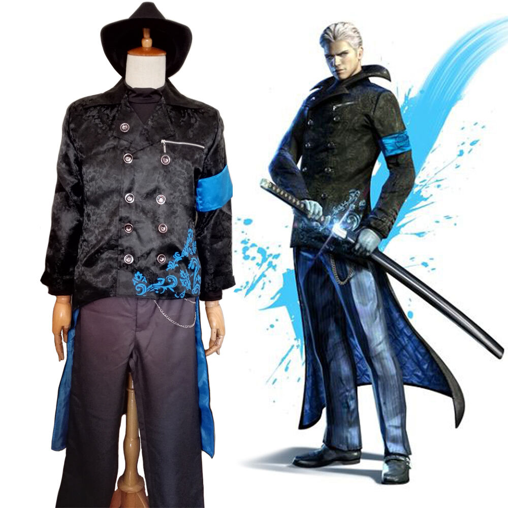 Vergil cosplay japanese anime ebay dmc devil may cry 5 virgil vergil cosplay costume made to order voltagebd Choice Image