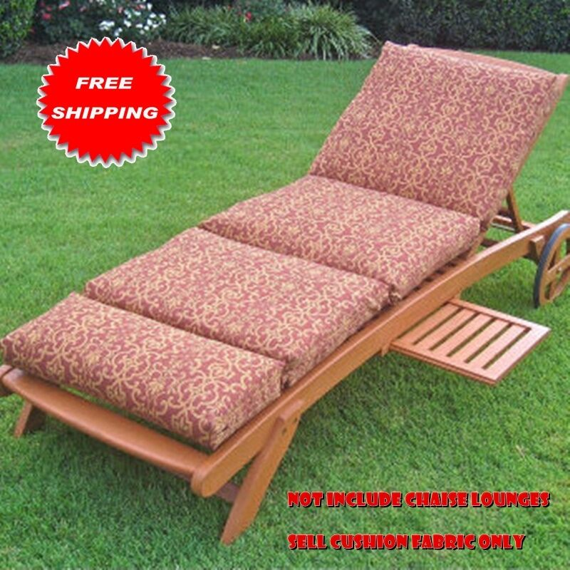 Premium Outdoor Chaise Lounge Cushion Fabric Comfortable