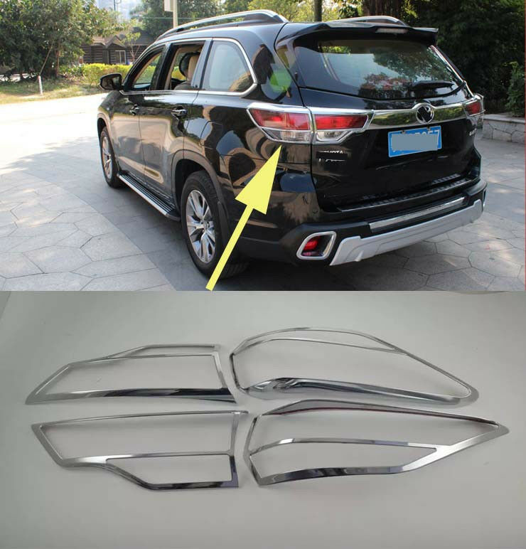 Chrome Tail Rear Light Lamp Cover Trim for 2014-2016 ...