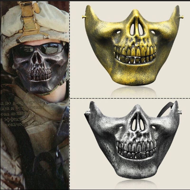 Costume Halloween Party Airsoft Skull Mask Motorcycle ...