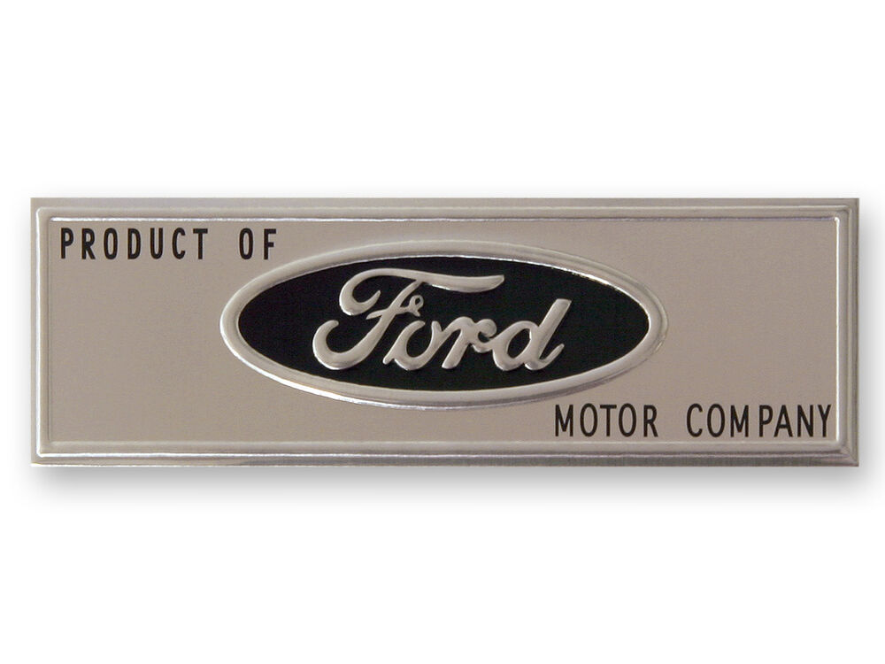 Ford Sill Scuff Plate Emblem Badge Mustang 1964 1965 1966