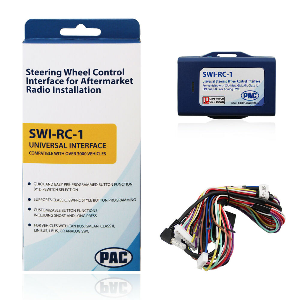 PAC SWI-RC Steering Wheel Control Retention Adapter Interface Aftermarket  Radio | eBay