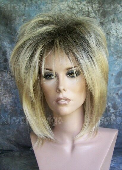 Dark Root With Golden Blonde Layered Womans Nirvana Tina