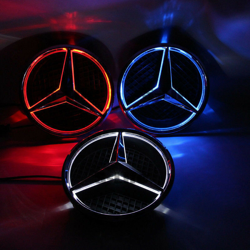 Sport 2013 2016 car led grille blled logo emblem light for for Mercedes benz symbol light