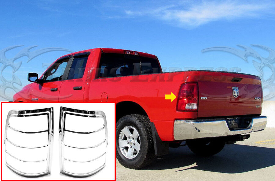 2009 2018 Dodge Ram Tail Light Chrome Guard Cover Accent