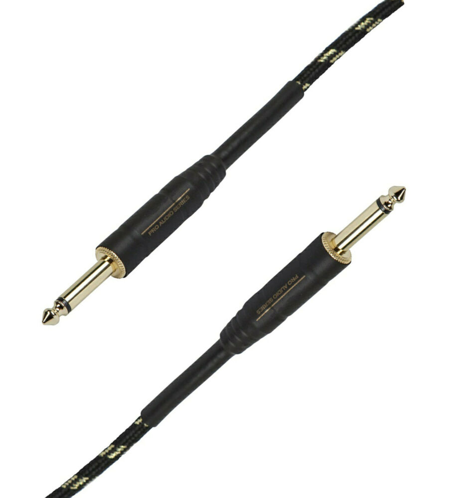 1 4 inch ts male instrument audio cable for studio guitar speaker amp cord short ebay. Black Bedroom Furniture Sets. Home Design Ideas