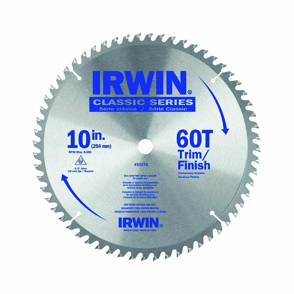 Irwin tools classic series carbide table miter circular for 10 inch table saw blades