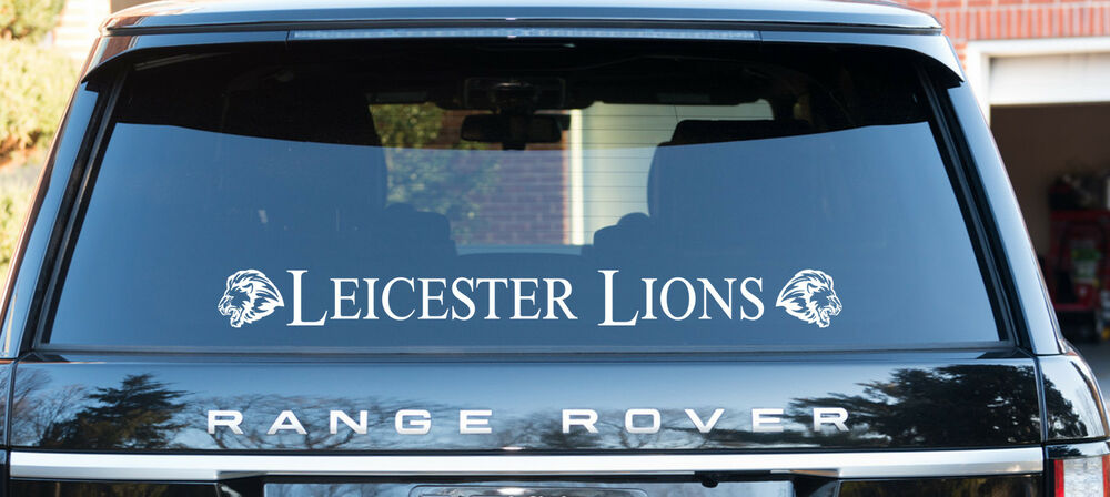 Leicester lions speedway themed decal window sticker logo 70cm long ebay