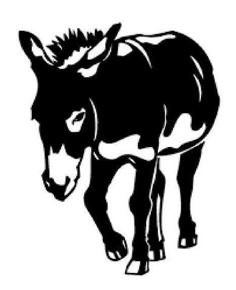 Donkey Silhouette Vinyl Decal Sticker Cute Country Animal