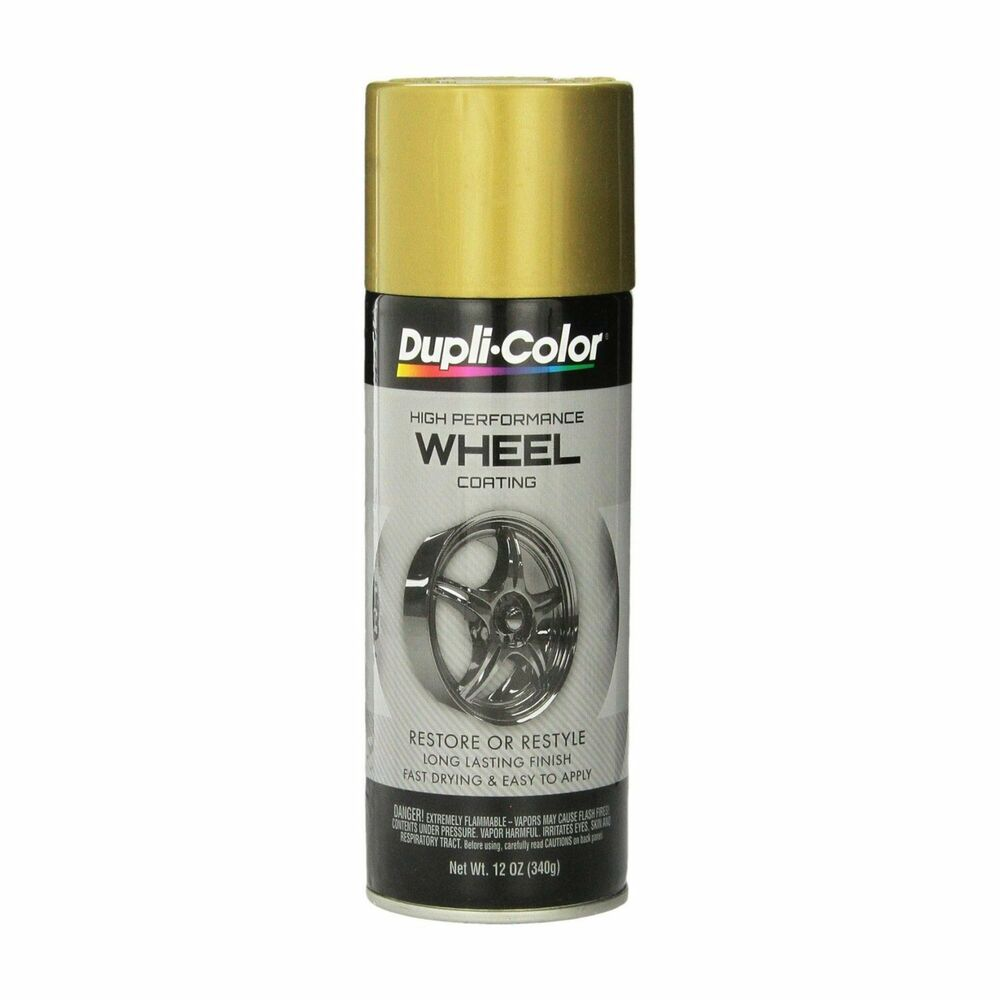 duplicolor hwp107 gold wheel and rim spray paint aerosol. Black Bedroom Furniture Sets. Home Design Ideas