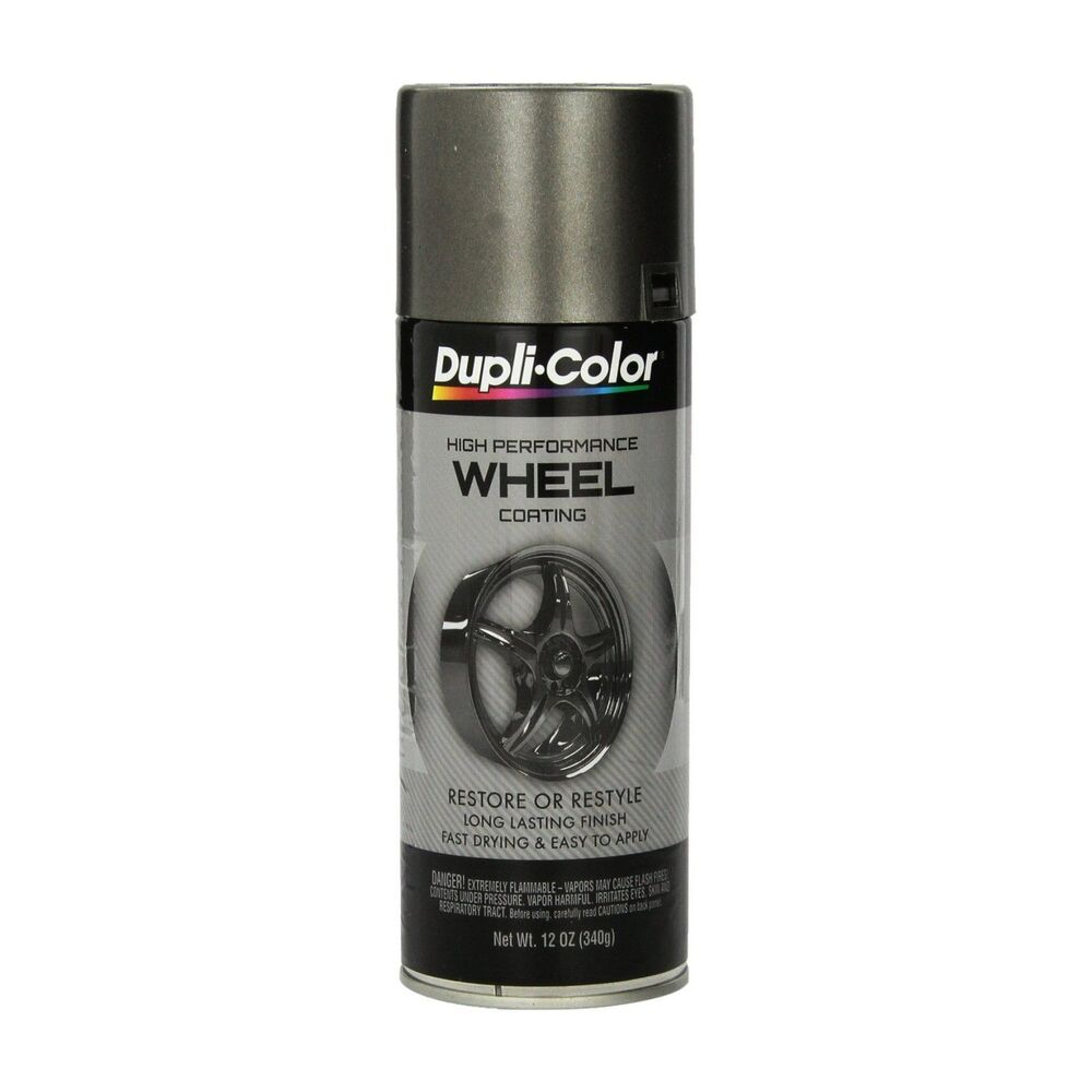 Duplicolor Hwp102 Graphite Charcoal Wheel And Rim Spray Paint Aerosol 11oz Ebay