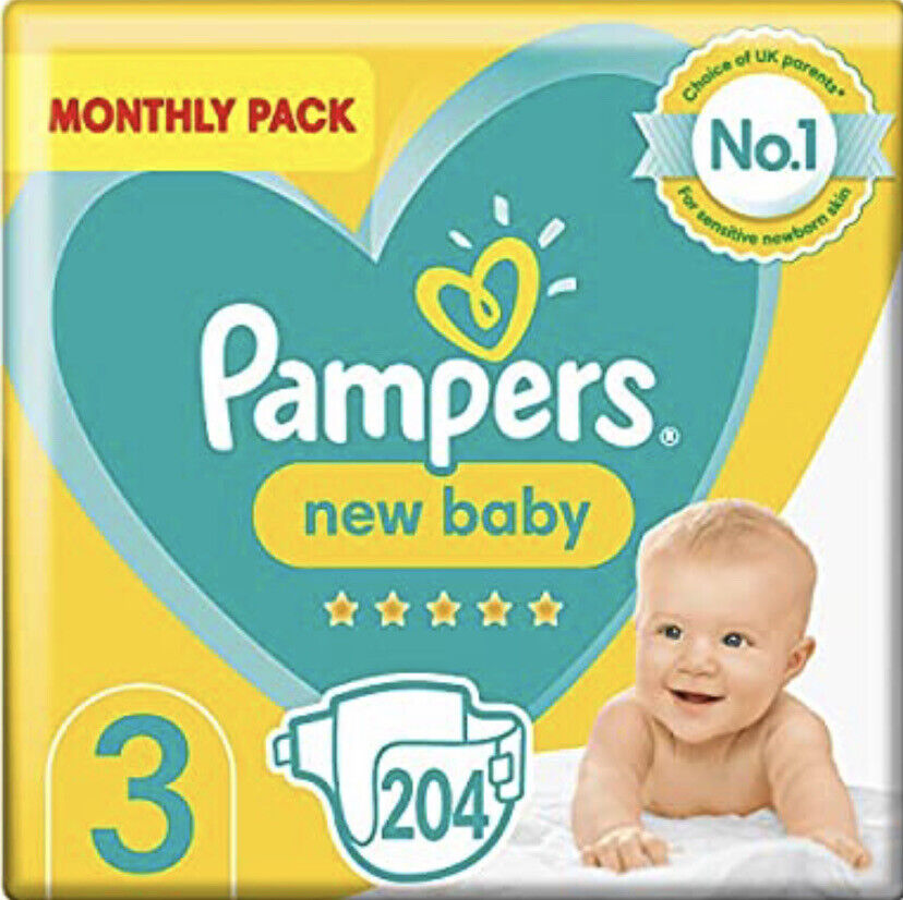 pampers size 3 baby premium protection nappies monthly. Black Bedroom Furniture Sets. Home Design Ideas