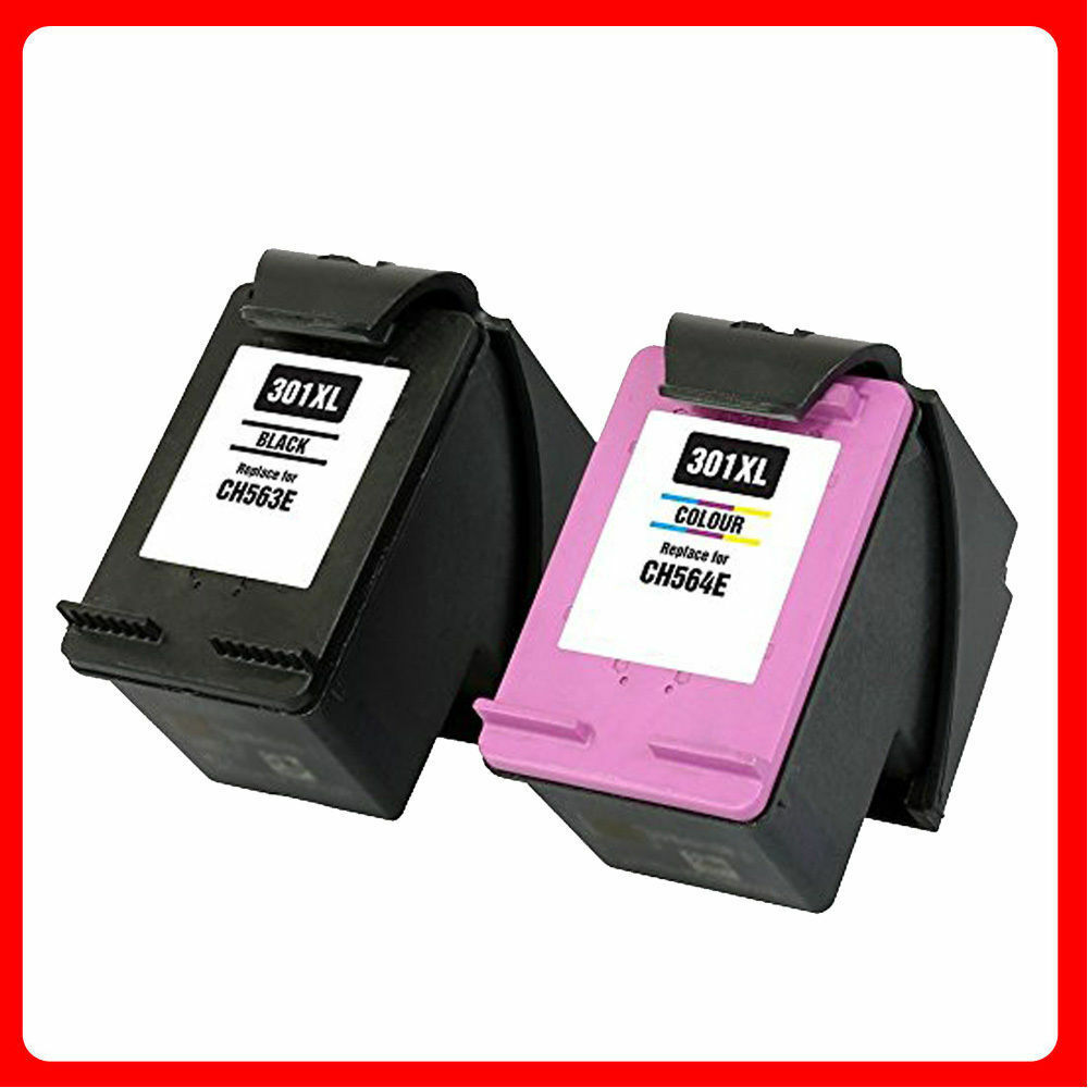 301xl black and colour ink cartridges for hp deskjet 2540 2542 2050a 1510 3050a ebay. Black Bedroom Furniture Sets. Home Design Ideas