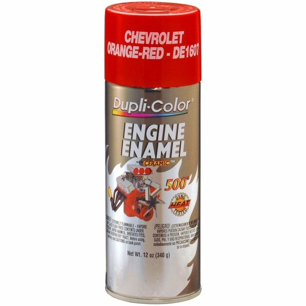 chevrolet orange red motor engine spray paint aerosol 12oz ebay. Black Bedroom Furniture Sets. Home Design Ideas