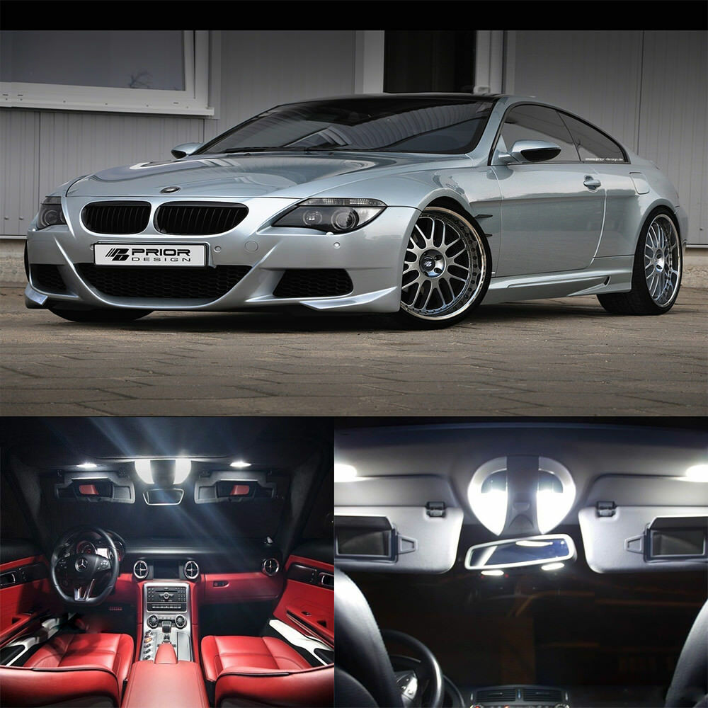 16 215 White Interior Led Light Kit For Bmw 6 Series E63 E64 M6 645ci 650i 2004 2010 Ebay