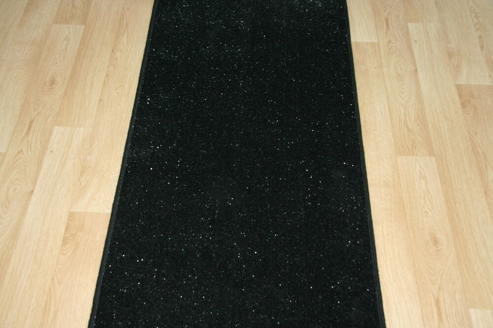 Quality Glitter Black Carpet Heavy Domestic Hall Stairs