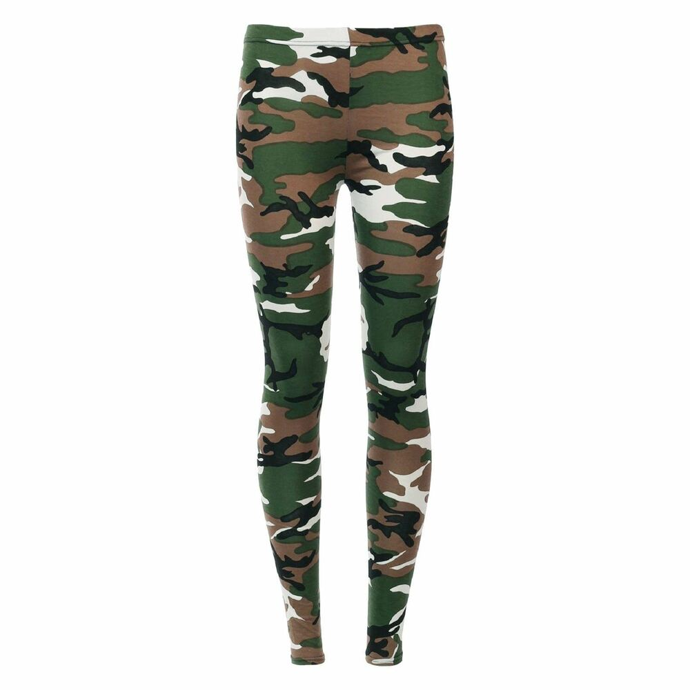 WOMENS CAMOUFLAGE ARMY PRINT LEGGINGS MILITARY LADIES PLUS SIZE 8 - 26 VISCOSE | eBay