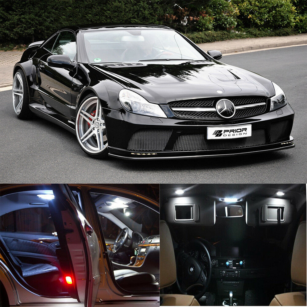 16 white interior led light kit for mercedes benz sl500 for Mercedes benz 500sl parts